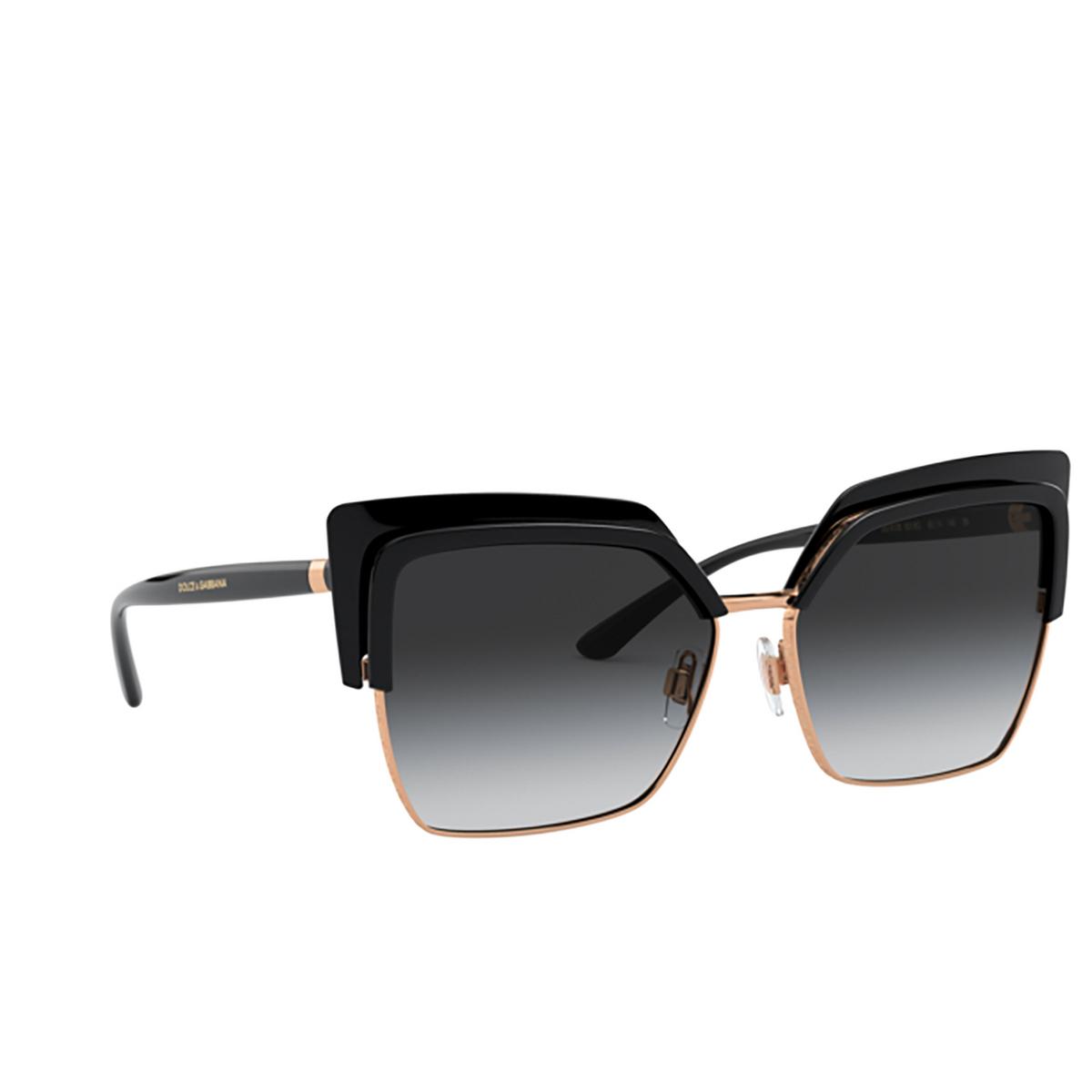 Dolce & Gabbana® Butterfly Sunglasses: DG6126 color Black 501/8G - 2/3.