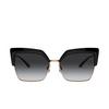 Dolce & Gabbana® Butterfly Sunglasses: DG6126 color Black 501/8G - product thumbnail 1/3.