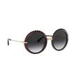 Dolce & Gabbana® Round Sunglasses: DG6130 color Transparent Red 550/8G - product thumbnail 2/3.