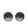 Dolce & Gabbana® Round Sunglasses: DG6130 color Transparent Red 550/8G - product thumbnail 1/3.