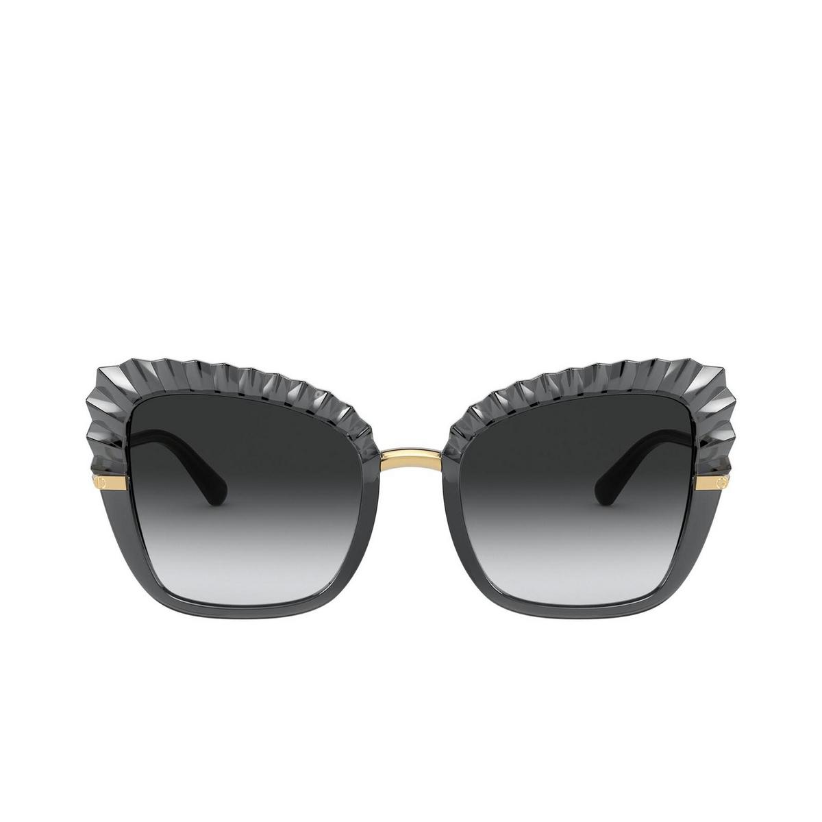 Dolce & Gabbana® Butterfly Sunglasses: DG6131 color Transparent Grey 31608G - front view.