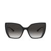 Dolce & Gabbana® Square Sunglasses: DG6138 color Black On Transparent Grey 32468G - product thumbnail 1/3.