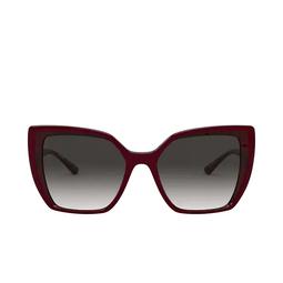 Dolce & Gabbana® Square Sunglasses: DG6138 color Bordeaux On Transparent Pink 32478G.