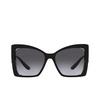 Dolce & Gabbana® Butterfly Sunglasses: DG6141 color Black 501/8G - product thumbnail 1/3.