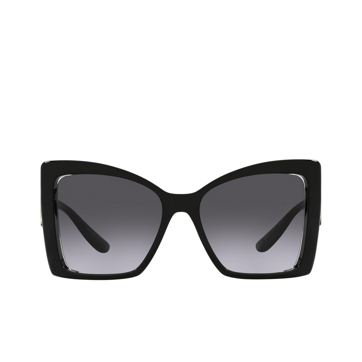 Dolce & Gabbana® Butterfly Sunglasses: DG6141 color Black 501/8G - front view.