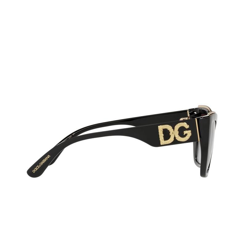 Dolce & Gabbana® Cat-eye Sunglasses: DG6144 color Black 501/8G.