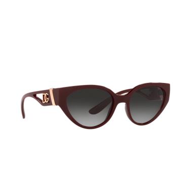 Dolce & Gabbana® Cat-eye Sunglasses: DG6146 color Transparent Bordeaux 32858G.