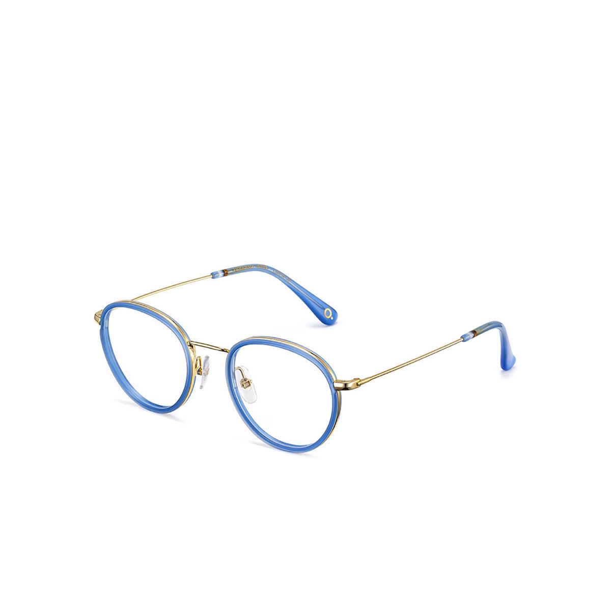 Etnia Barcelona® Round Eyeglasses: Little Italy color Gdbl - three-quarters view.