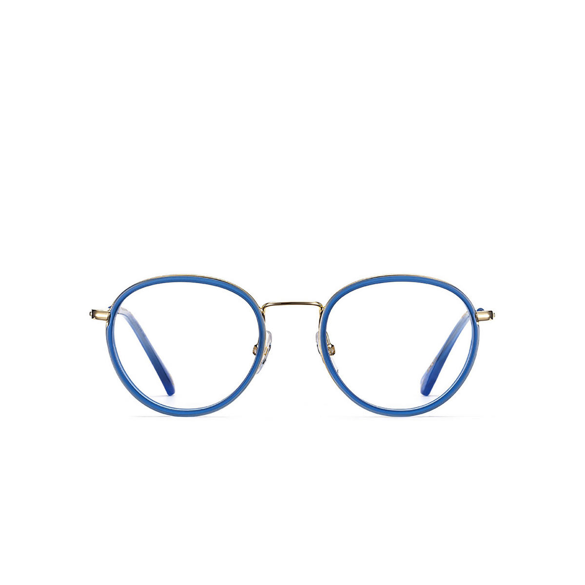 Etnia Barcelona® Round Eyeglasses: Little Italy color Gdbl - front view.