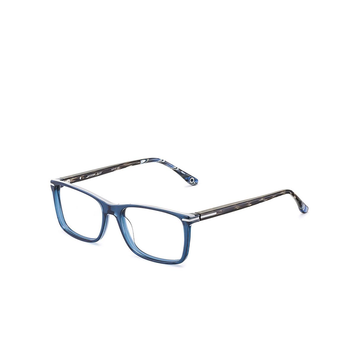 Etnia Barcelona® Rectangle Eyeglasses: Missisipi color Blgy - three-quarters view.