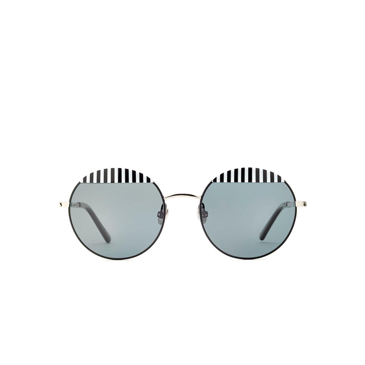 Etnia Barcelona® Round Sunglasses: Wolseley color Bksl.