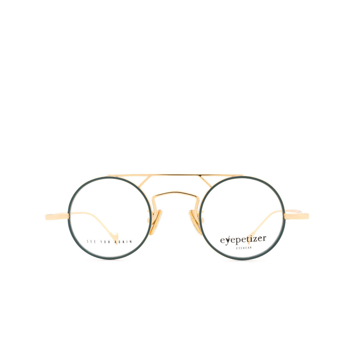 Eyepetizer® Round Eyeglasses: Adrien color Sage Green C.4-B.