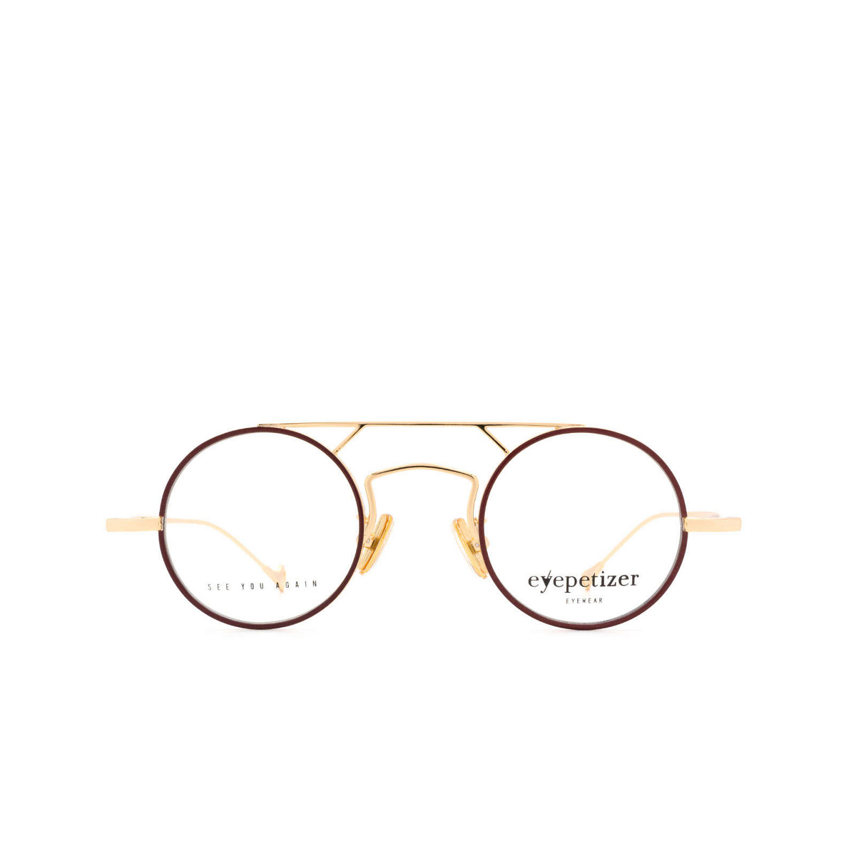Eyepetizer® Round Eyeglasses: Adrien color Brown C.4-C.