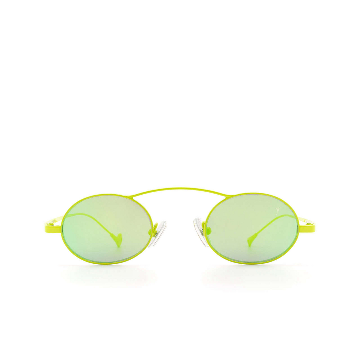 Eyepetizer® Oval Sunglasses: Birkin color Lime Green C.12-36 - front view.