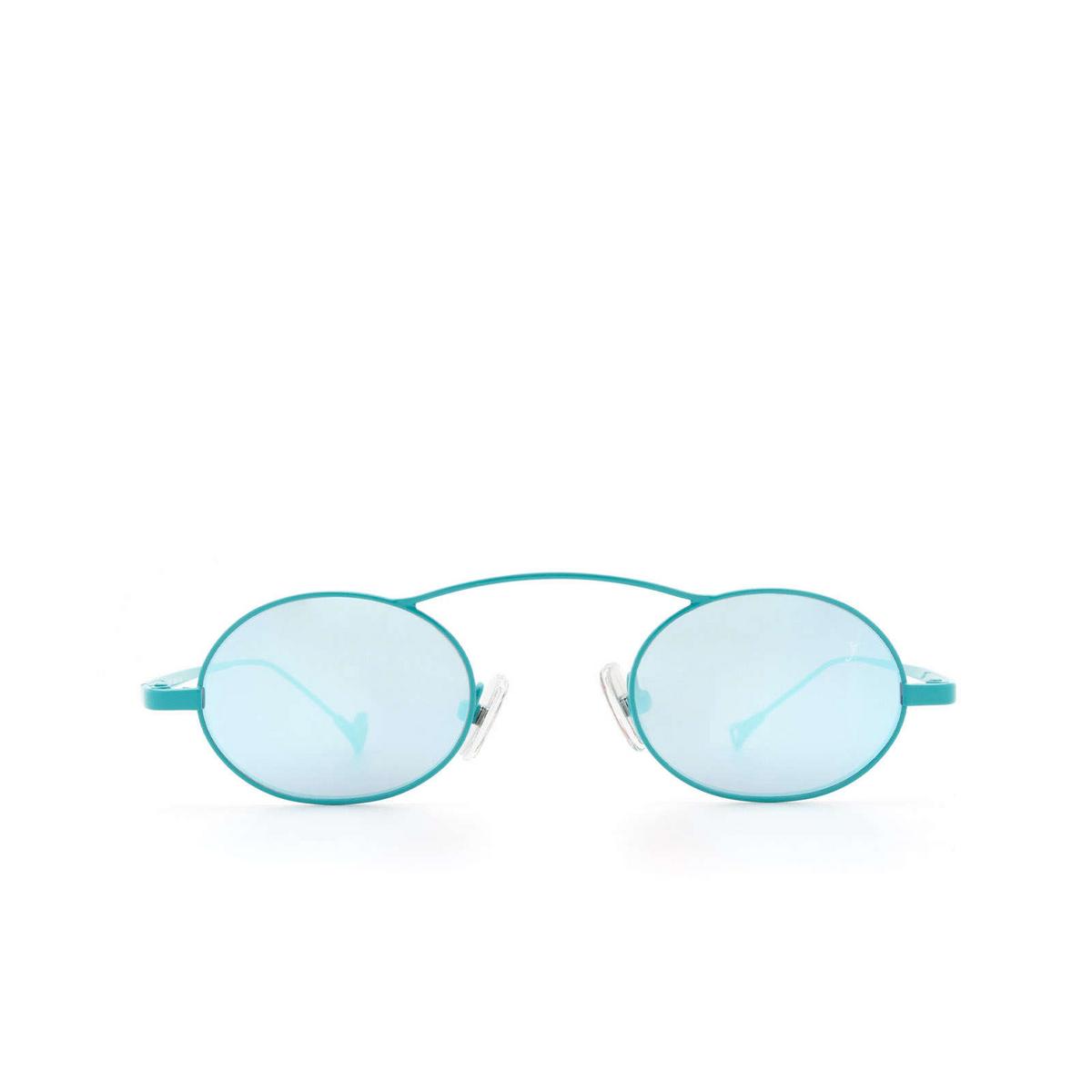Eyepetizer® Oval Sunglasses: Birkin color Turquoise C.14-38.