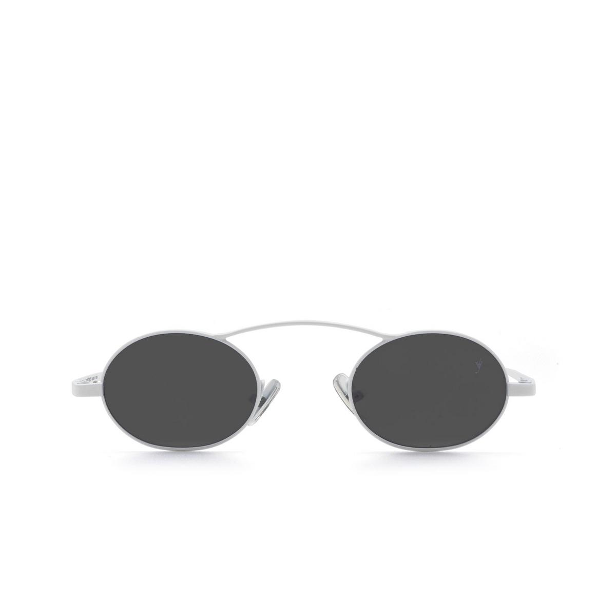 Eyepetizer® Oval Sunglasses: Birkin color Matte White C.7-7.