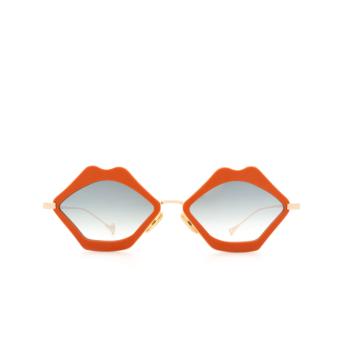 Eyepetizer® Irregular Sunglasses: Bisous color Coral C.4-K-25F.