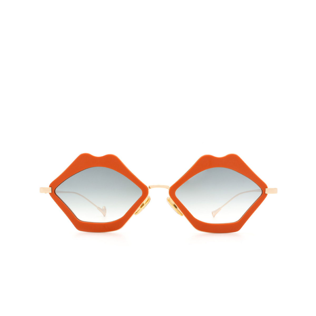 Eyepetizer® Irregular Sunglasses: Bisous color Coral C.4-K-25F - front view.