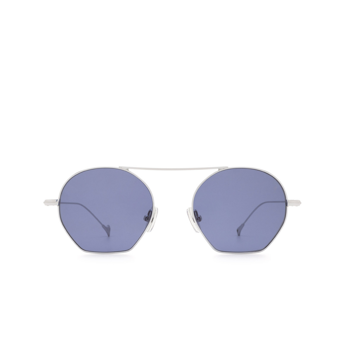 Eyepetizer® Irregular Sunglasses: Botafoch color Silver C.1-39 - front view.