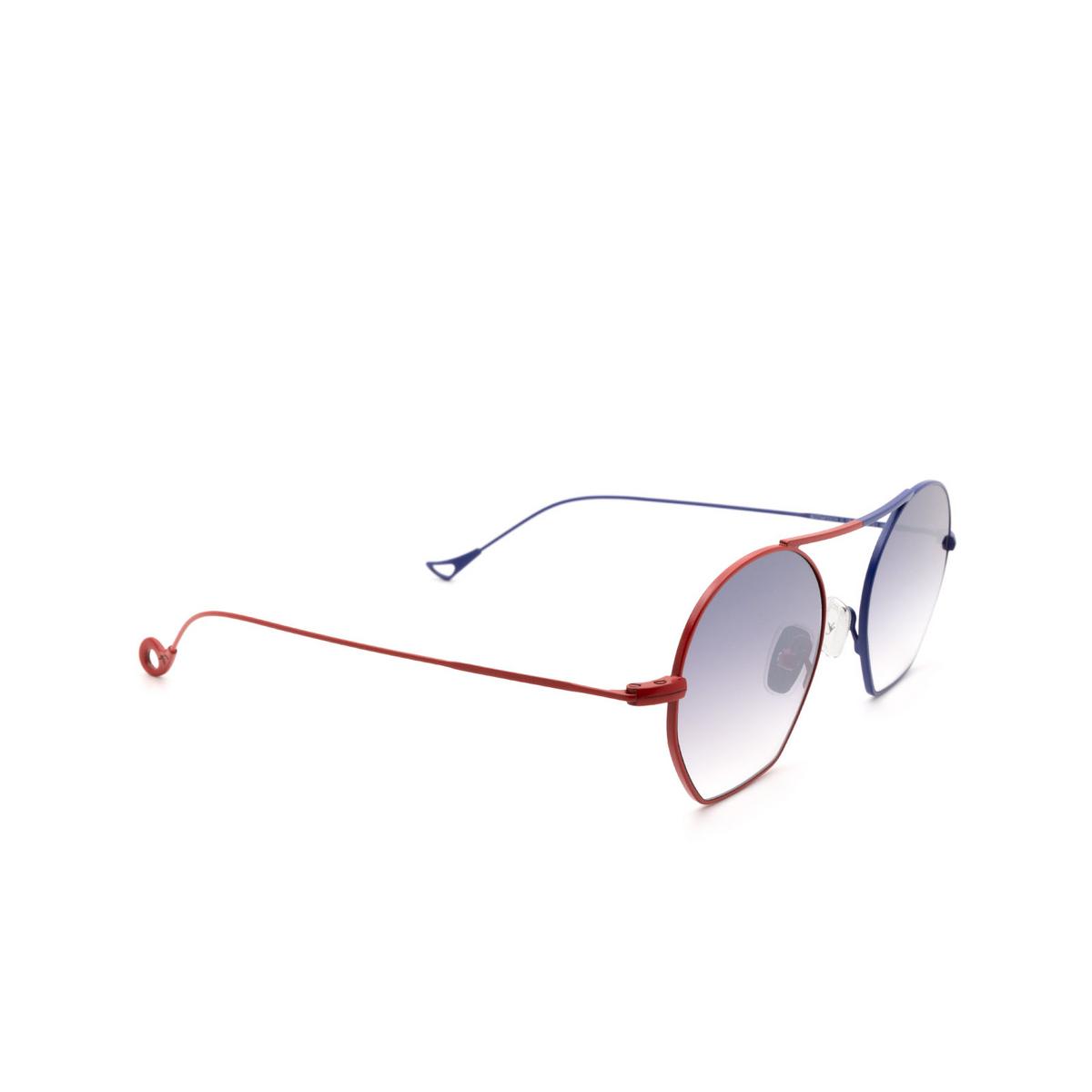 Eyepetizer® Irregular Sunglasses: Botafoch color Red & Blue C.18-27F - three-quarters view.