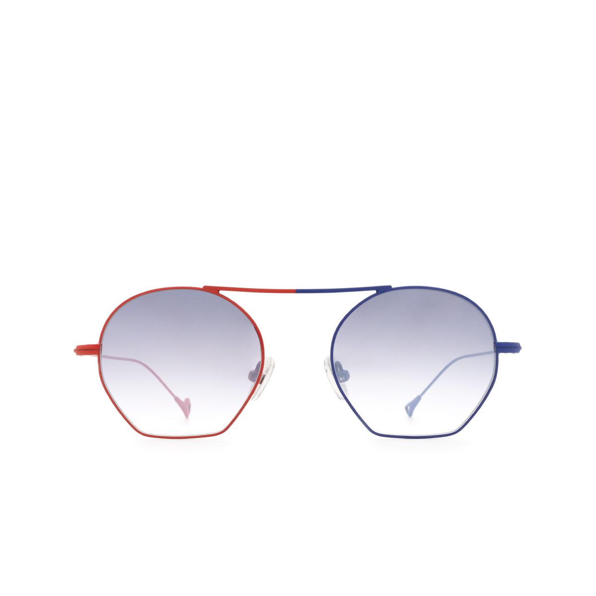 Eyepetizer® Irregular Sunglasses: Botafoch color Red & Blue C.18-27F - front view.