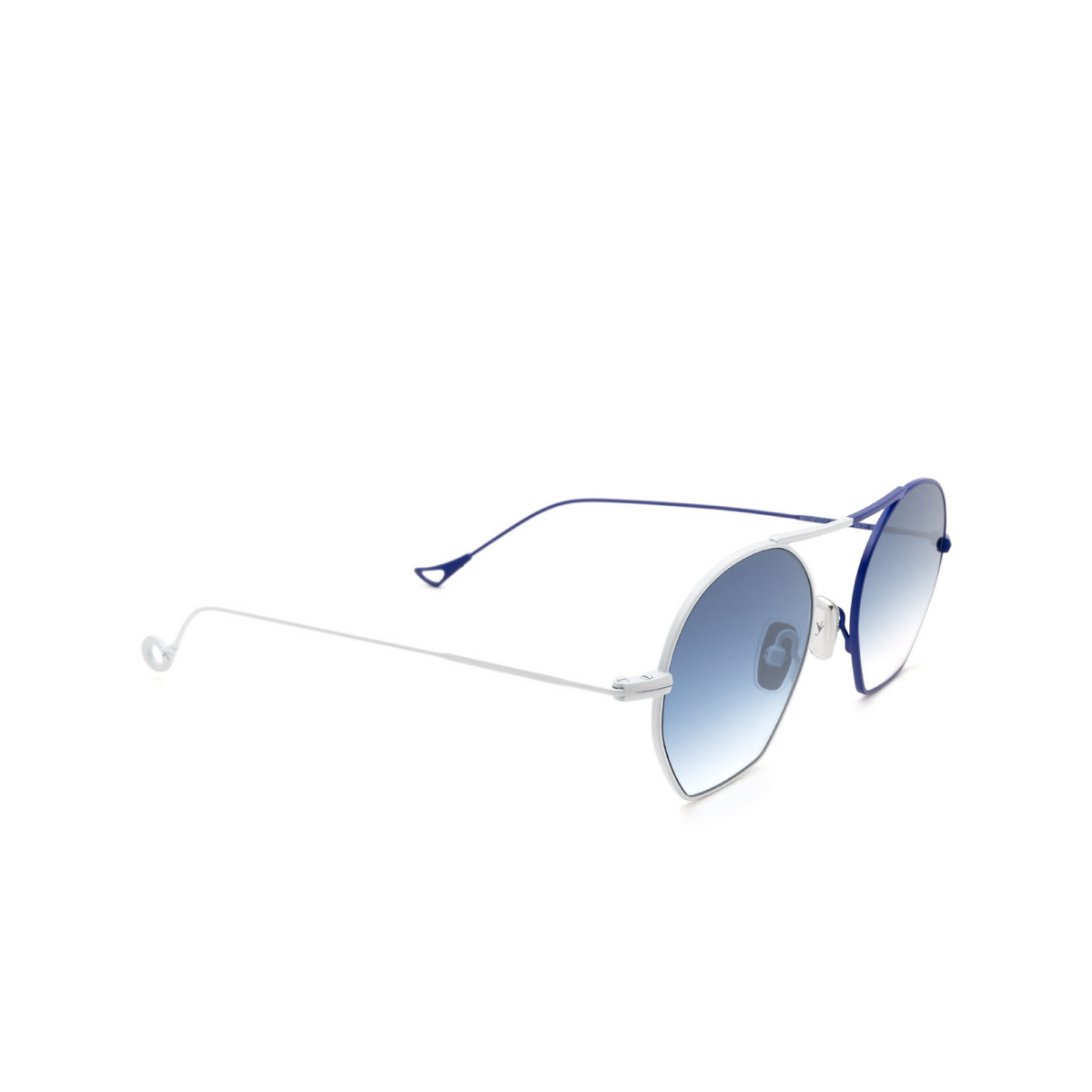 Eyepetizer® Irregular Sunglasses: Botafoch color White & Blue C.19-12F - three-quarters view.