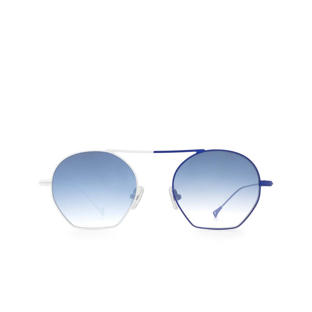 Eyepetizer® Irregular Sunglasses: Botafoch color White & Blue C.19-12F - front view.