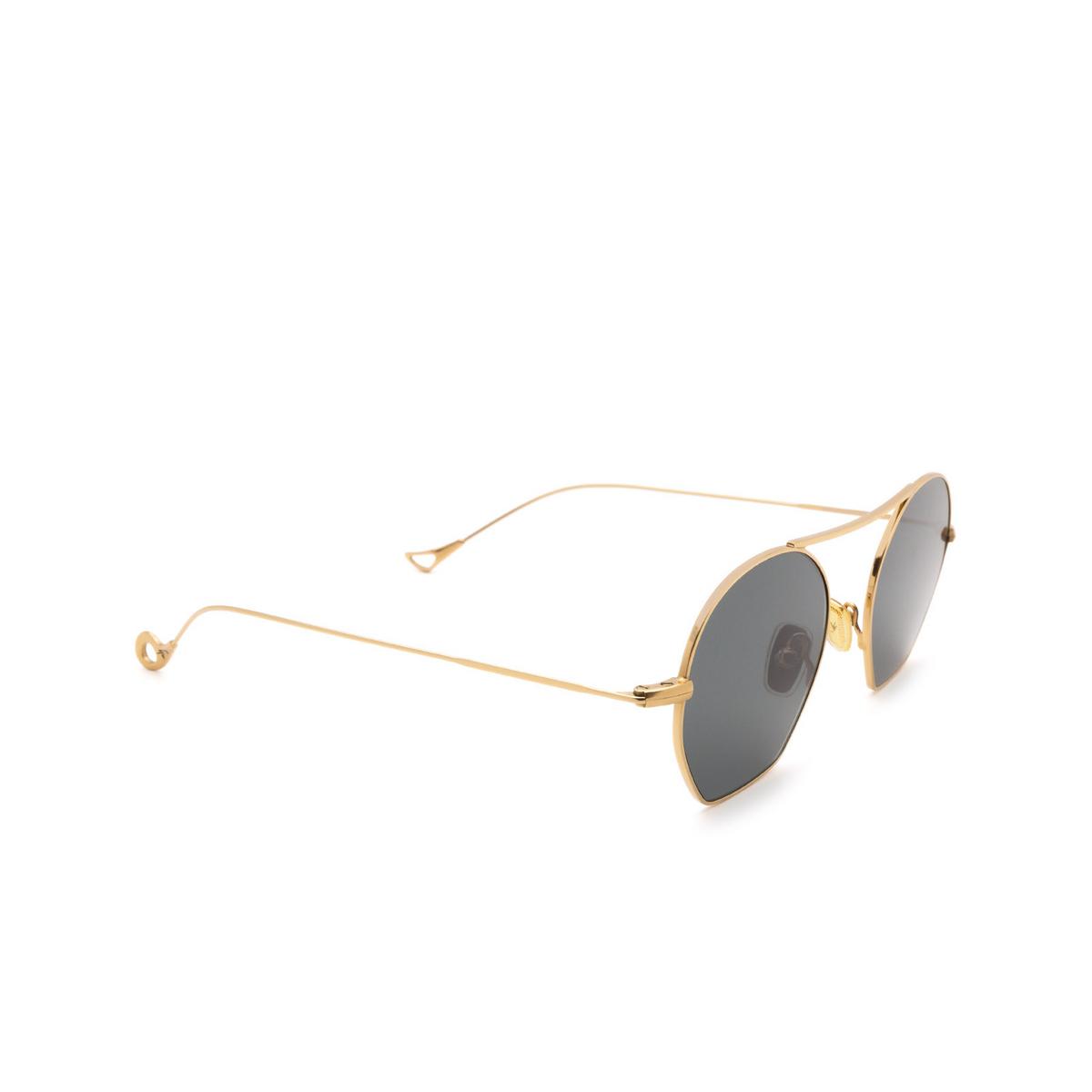 Eyepetizer® Irregular Sunglasses: Botafoch color Gold C.4-40 - three-quarters view.