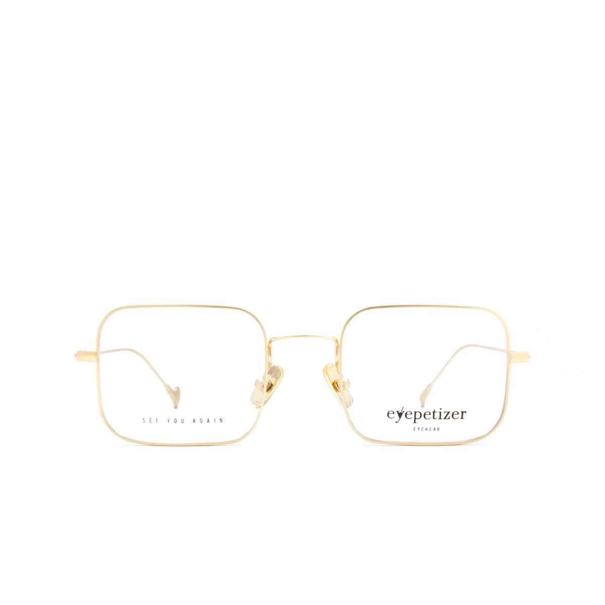 Eyepetizer® Eyeglasses: Brando color Matte Gold C 4-OP - front view.