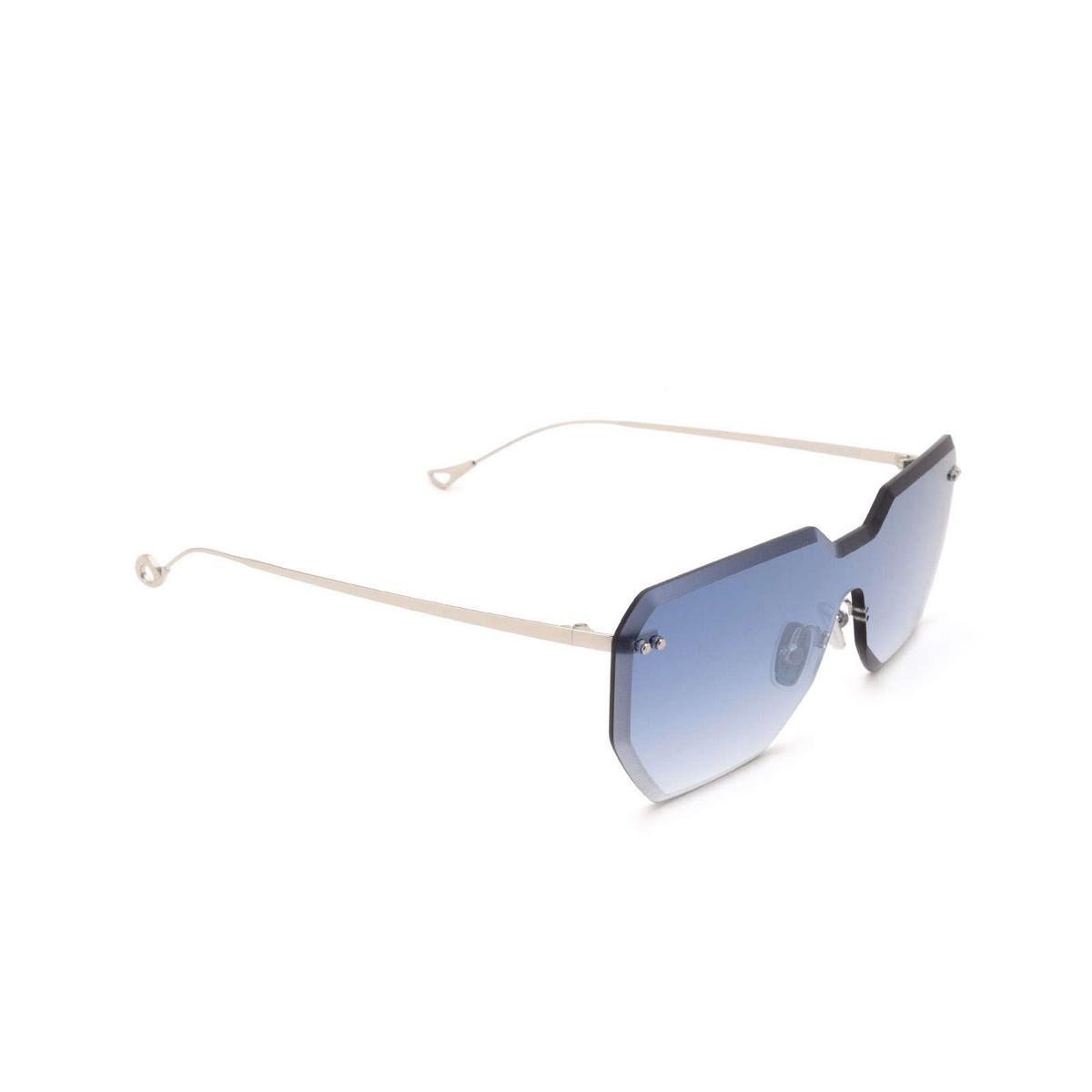 Eyepetizer® Mask Sunglasses: Brickel color Silver C.1-26F - three-quarters view.