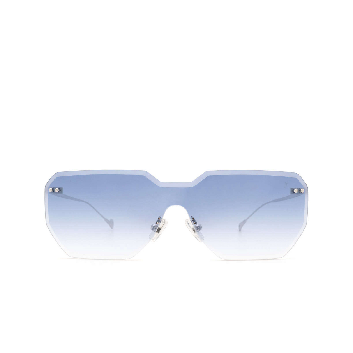 Eyepetizer® Mask Sunglasses: Brickel color Silver C.1-26F - front view.
