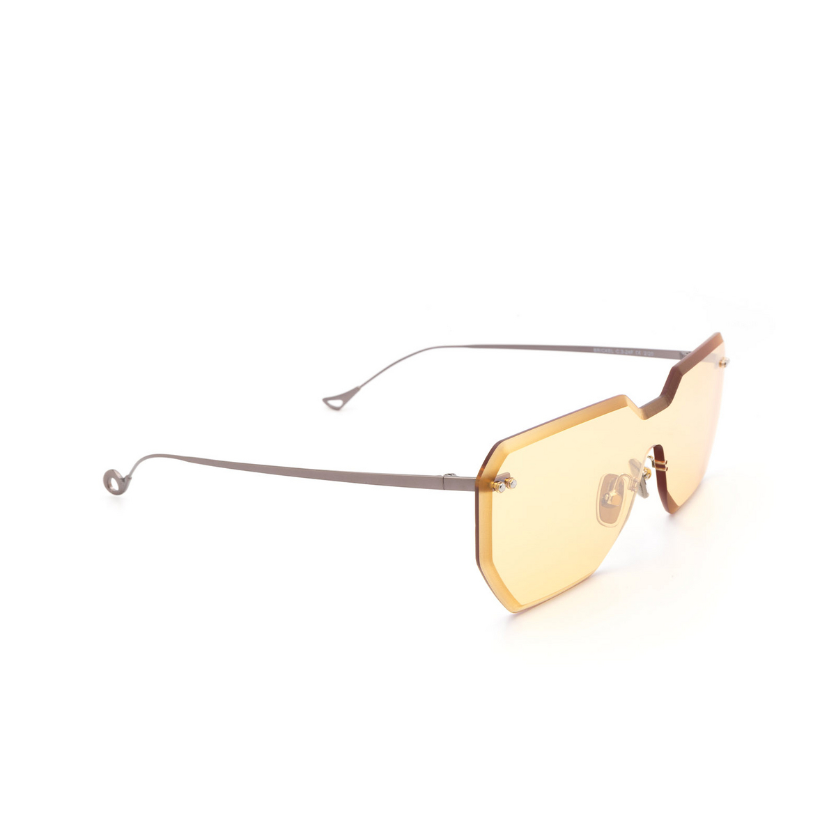 Eyepetizer® Mask Sunglasses: Brickel color Gunmetal C.3-24F - three-quarters view.
