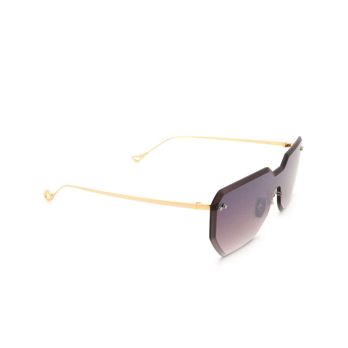 Eyepetizer® Mask Sunglasses: Brickel color Gold C.4-18F - three-quarters view.