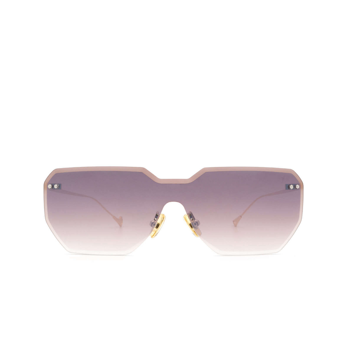 Eyepetizer® Mask Sunglasses: Brickel color Gold C.4-18F - front view.