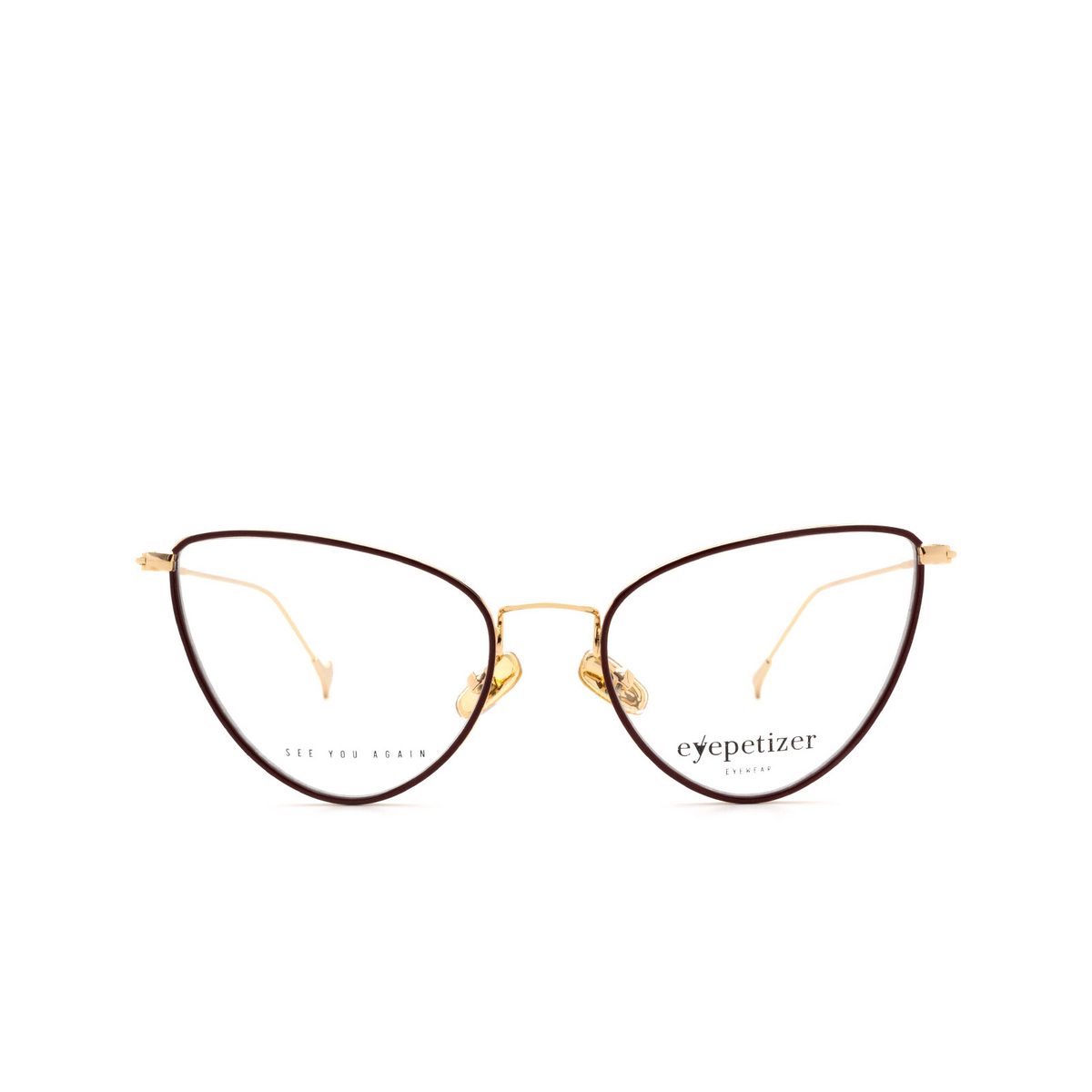 Eyepetizer® Cat-eye Eyeglasses: Cecile color Brown C.4-C.