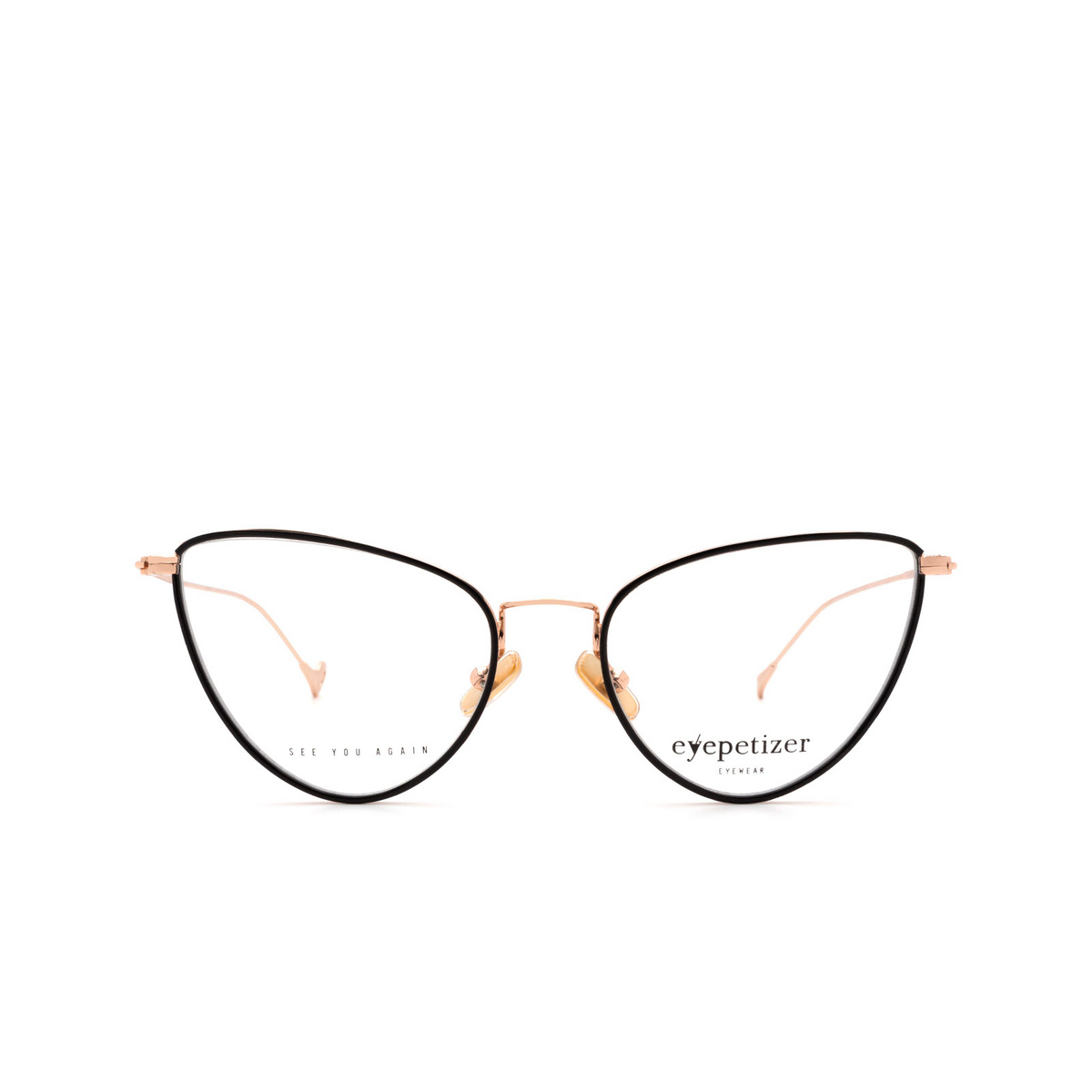 Eyepetizer® Cat-eye Eyeglasses: Cecile color Black C.9-F.
