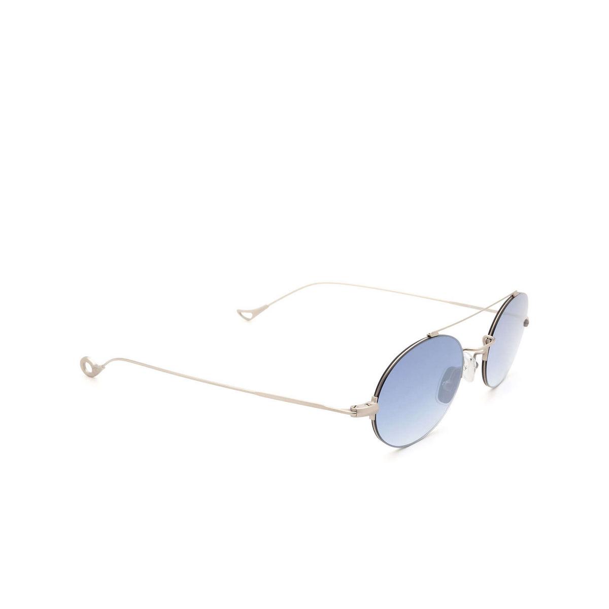 Eyepetizer® Oval Sunglasses: Celine color Silver Matt C.1-26F - three-quarters view.