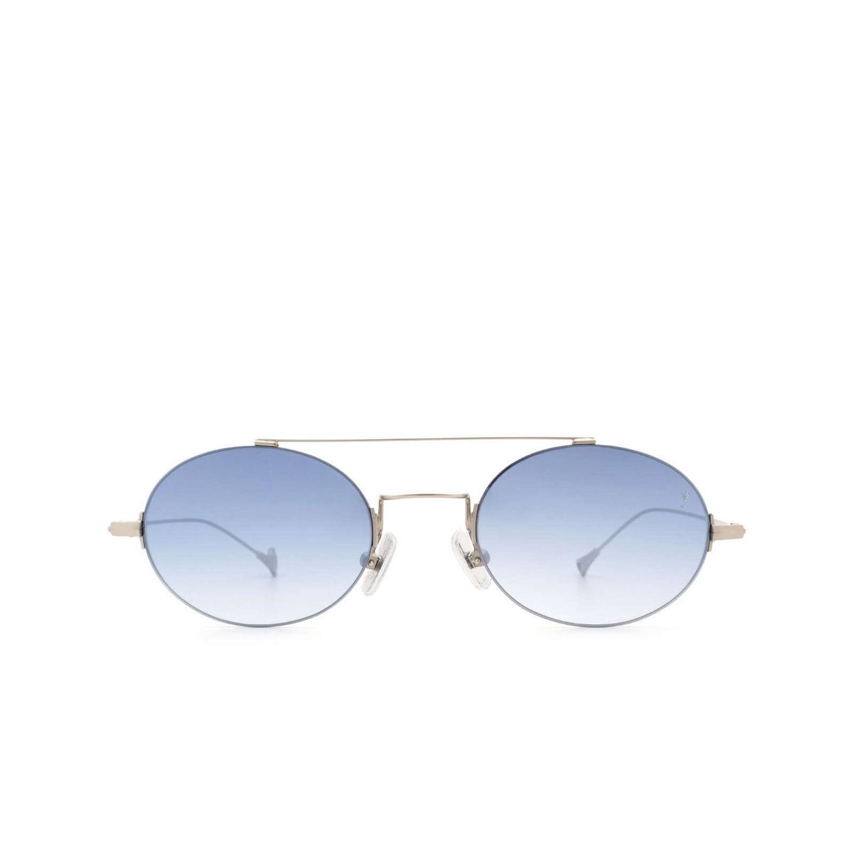 Eyepetizer® Oval Sunglasses: Celine color Silver Matt C.1-26F - front view.