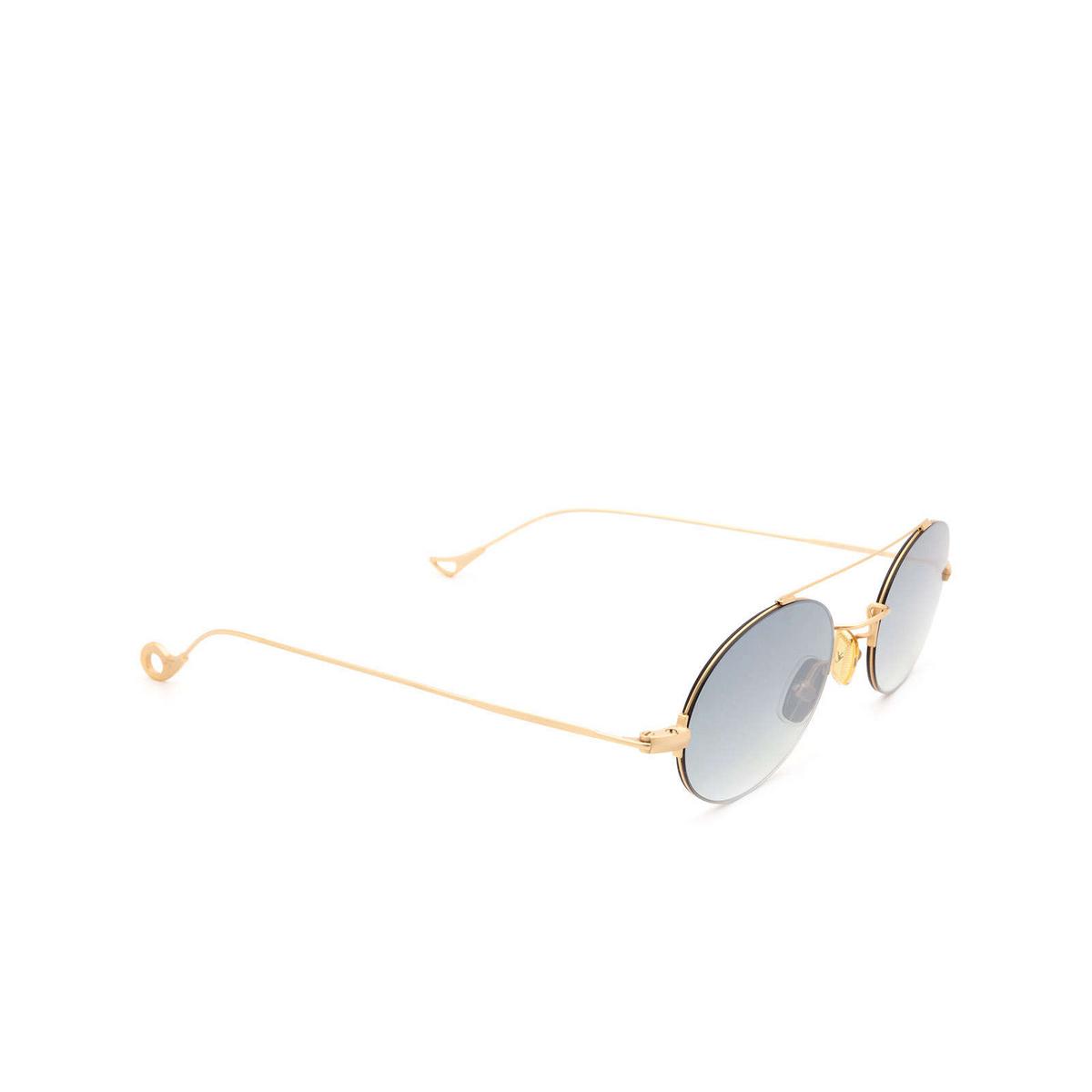 Eyepetizer® Oval Sunglasses: Celine color Matte Gold C.4-25F - three-quarters view.
