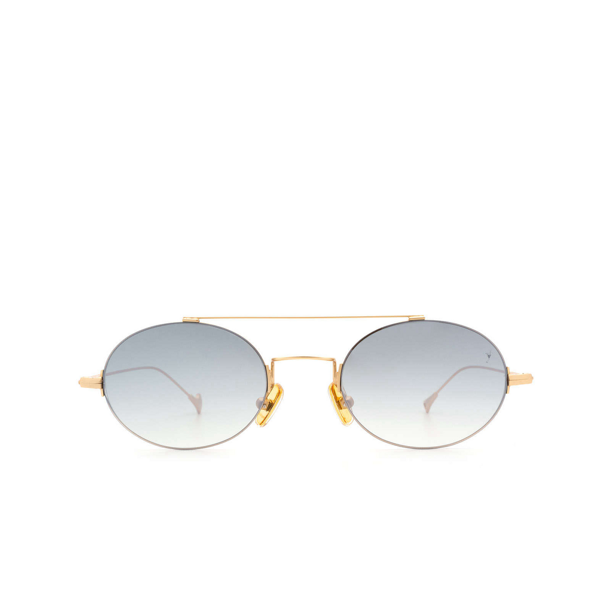 Eyepetizer® Oval Sunglasses: Celine color Matte Gold C.4-25F - front view.