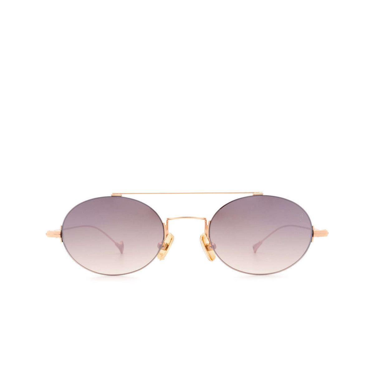 Eyepetizer® Oval Sunglasses: Celine color Rose Gold Matt C.9-18F.