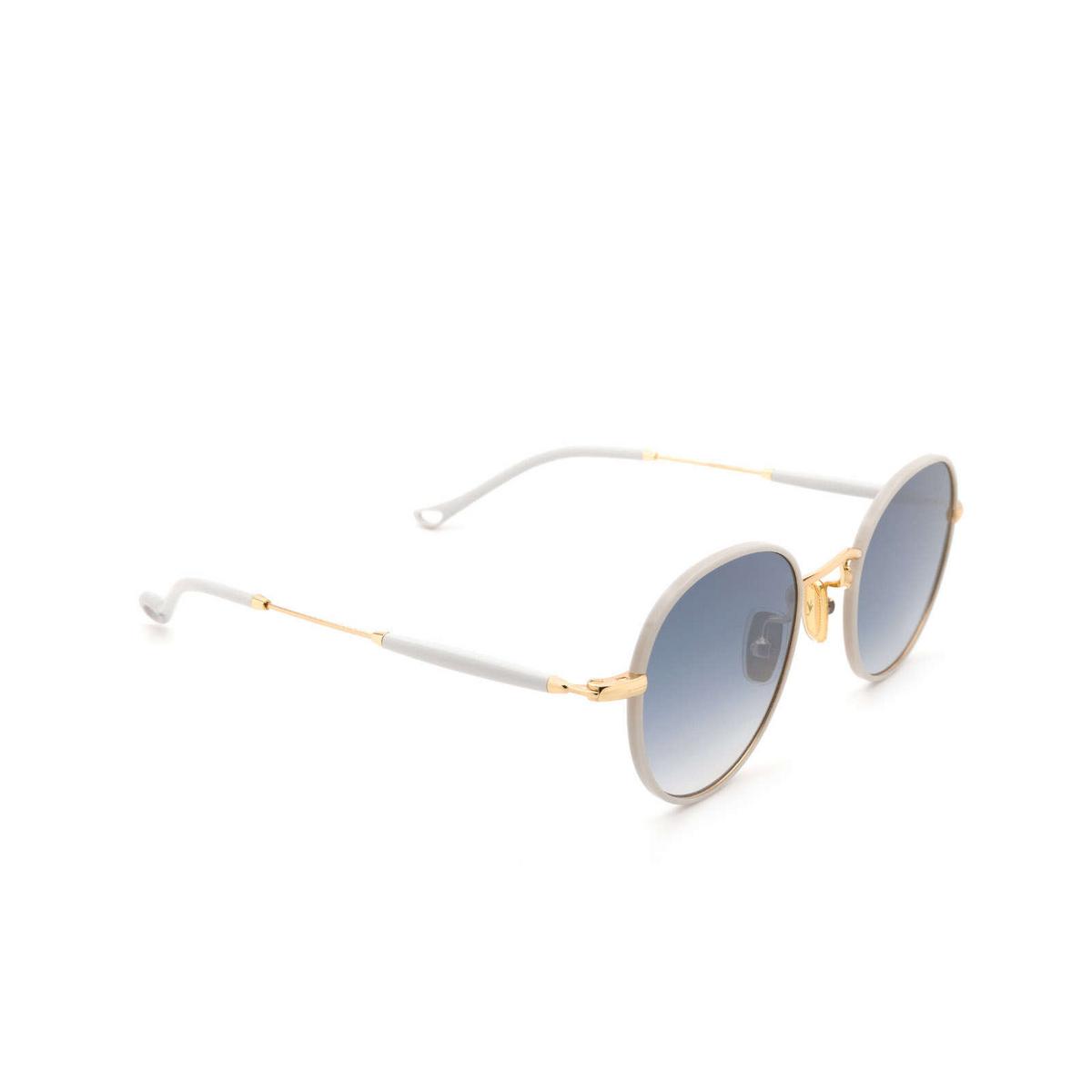 Eyepetizer® Round Sunglasses: Cinq color Ice Grey C.4-D-S-26F - three-quarters view.