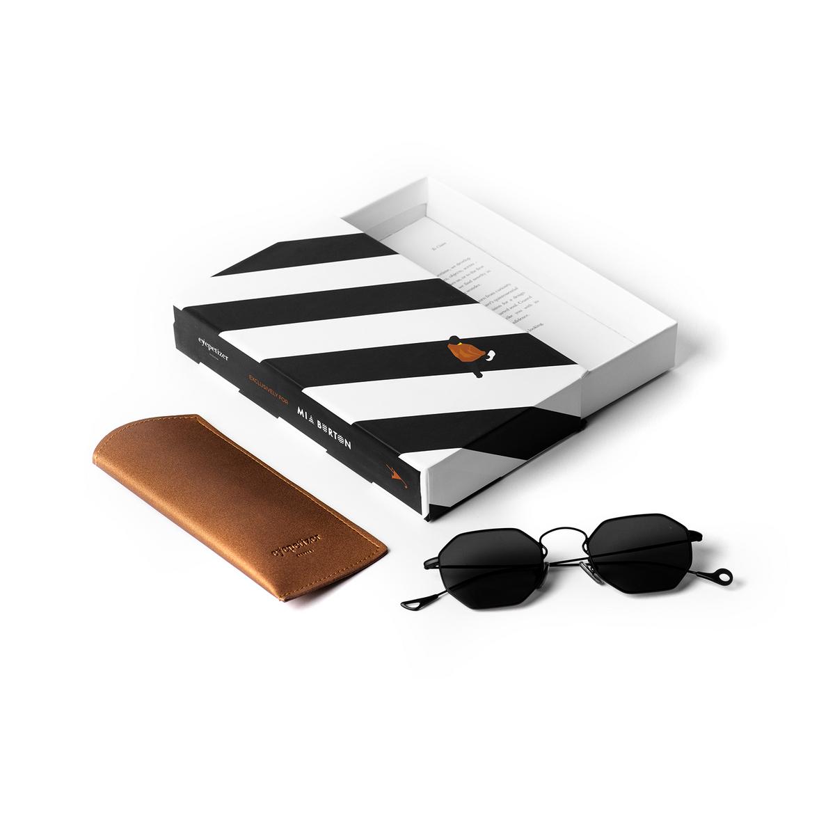 Eyepetizer® Irregular Sunglasses: Claire X Mia Burton color Black C.6-7 - 4/6.