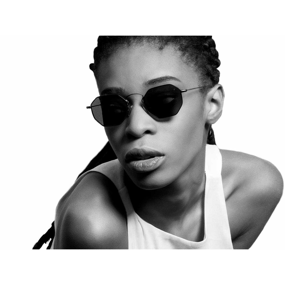 Eyepetizer® Irregular Sunglasses: Claire X Mia Burton color Black C.6-7 - 6/6.