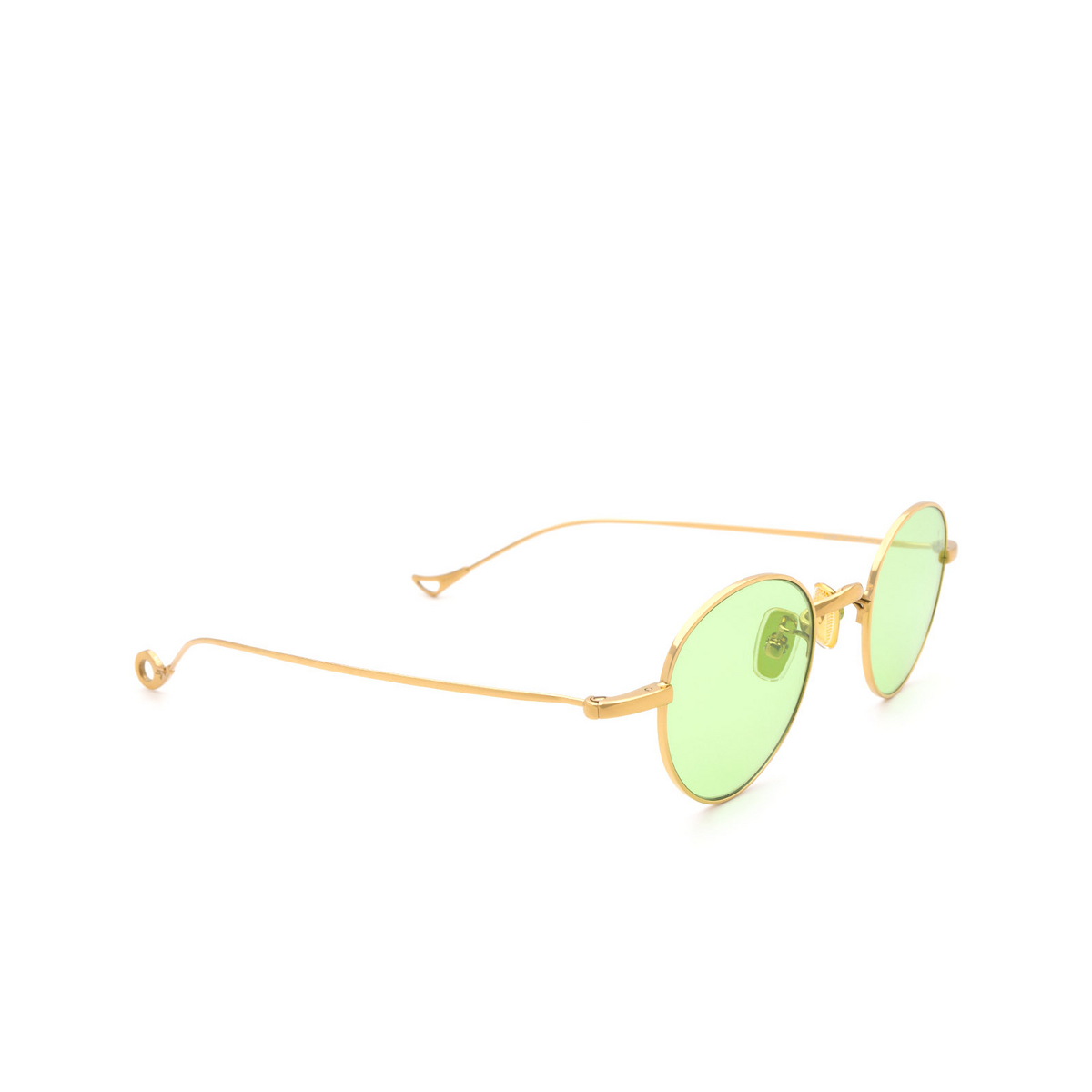 Eyepetizer® Round Sunglasses: Clint color Gold C.4-1 - three-quarters view.