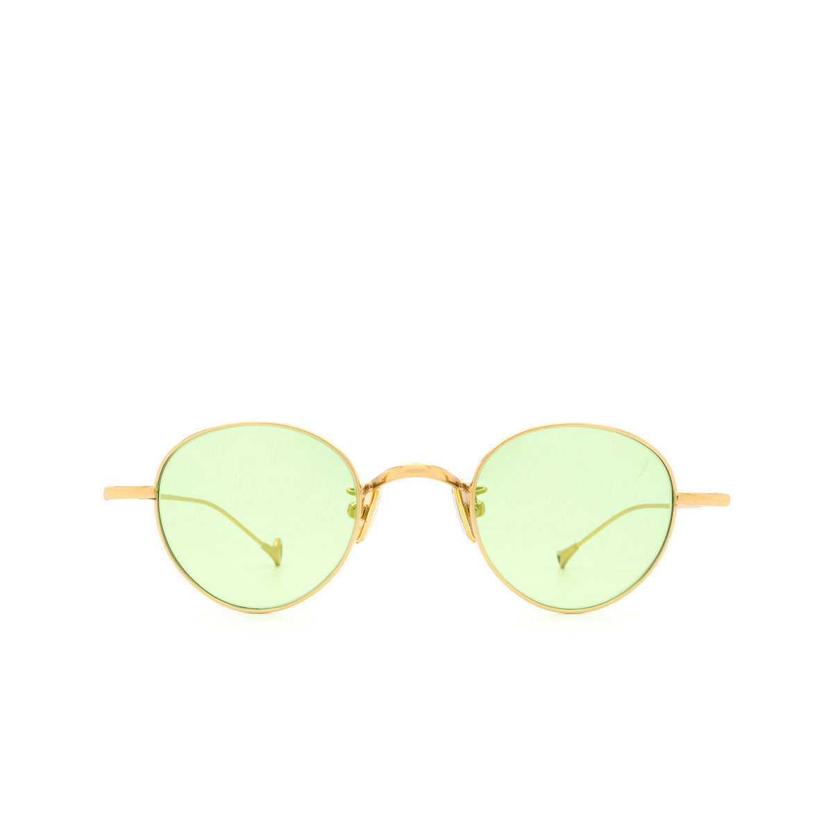 Eyepetizer® Round Sunglasses: Clint color Gold C.4-1 - front view.