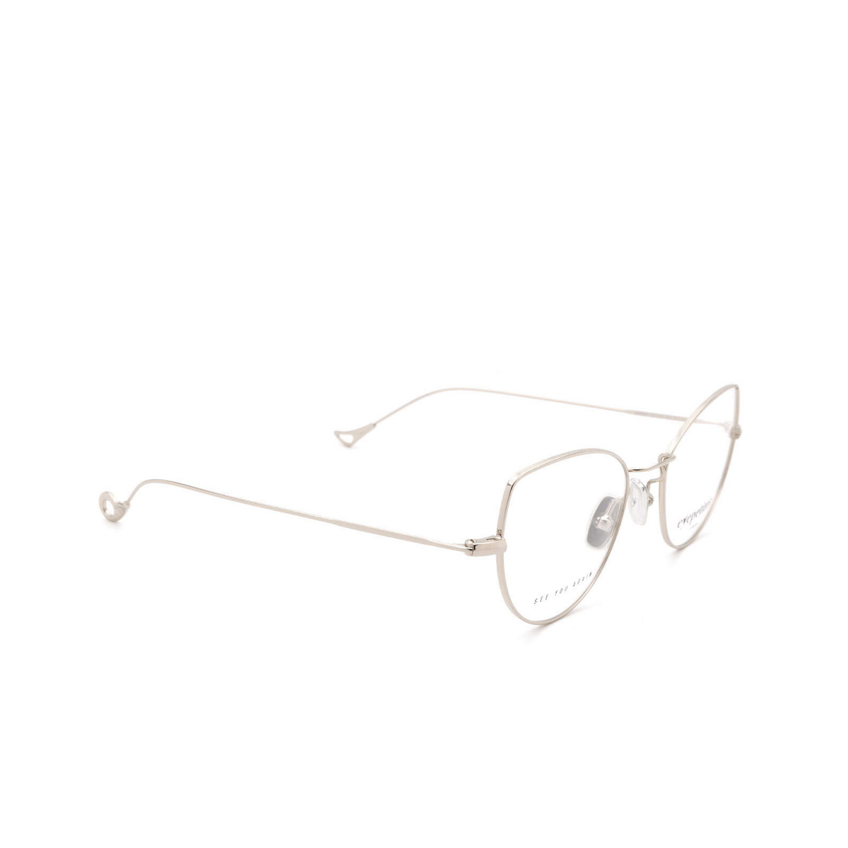 Eyepetizer® Cat-eye Eyeglasses: Denise color Silver C.1.