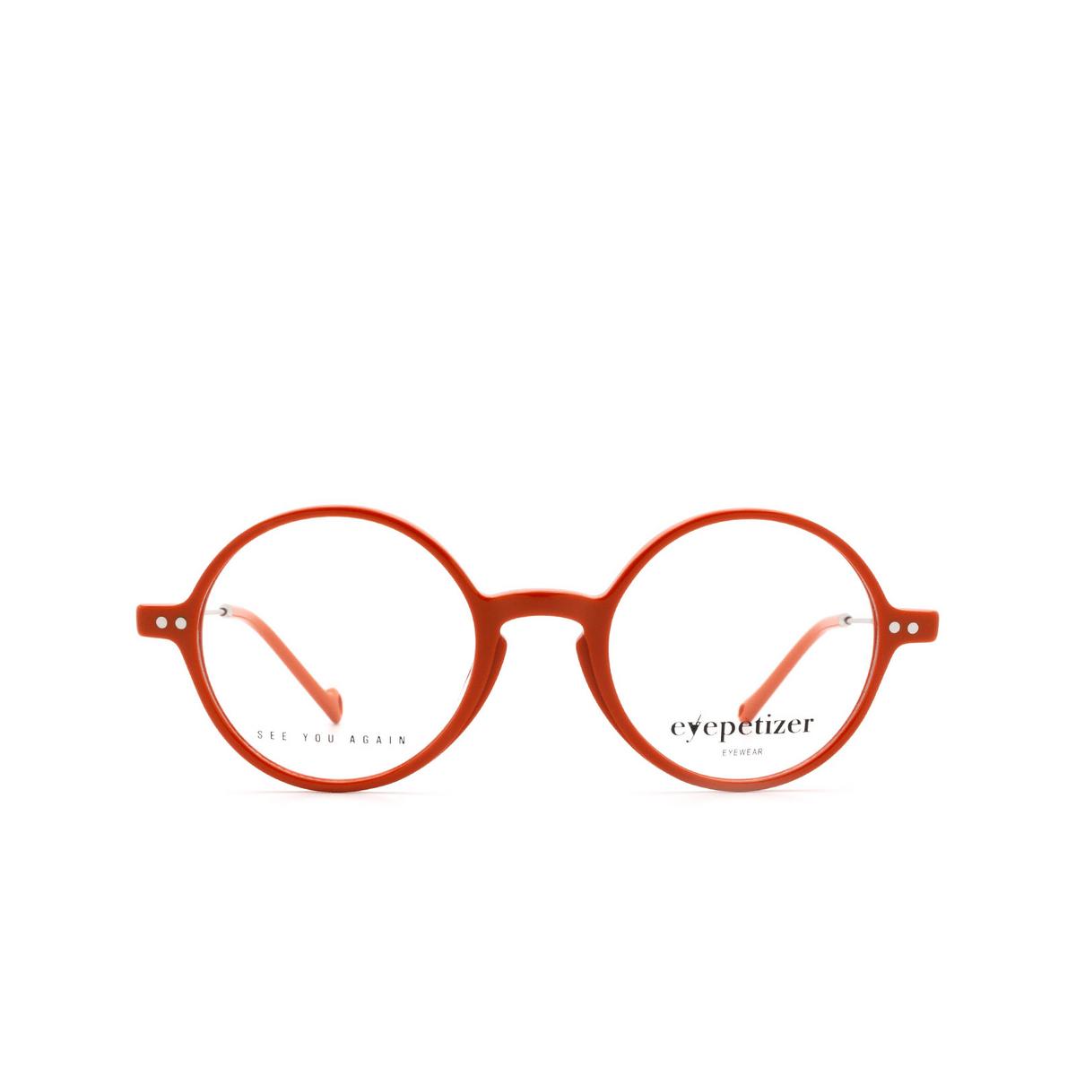 Eyepetizer® Round Eyeglasses: Dix color Orange C.1-K.