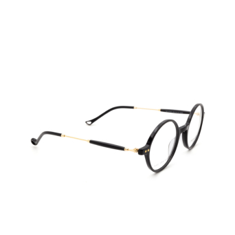 Eyepetizer® Round Eyeglasses: Dix color Black C.4-A.