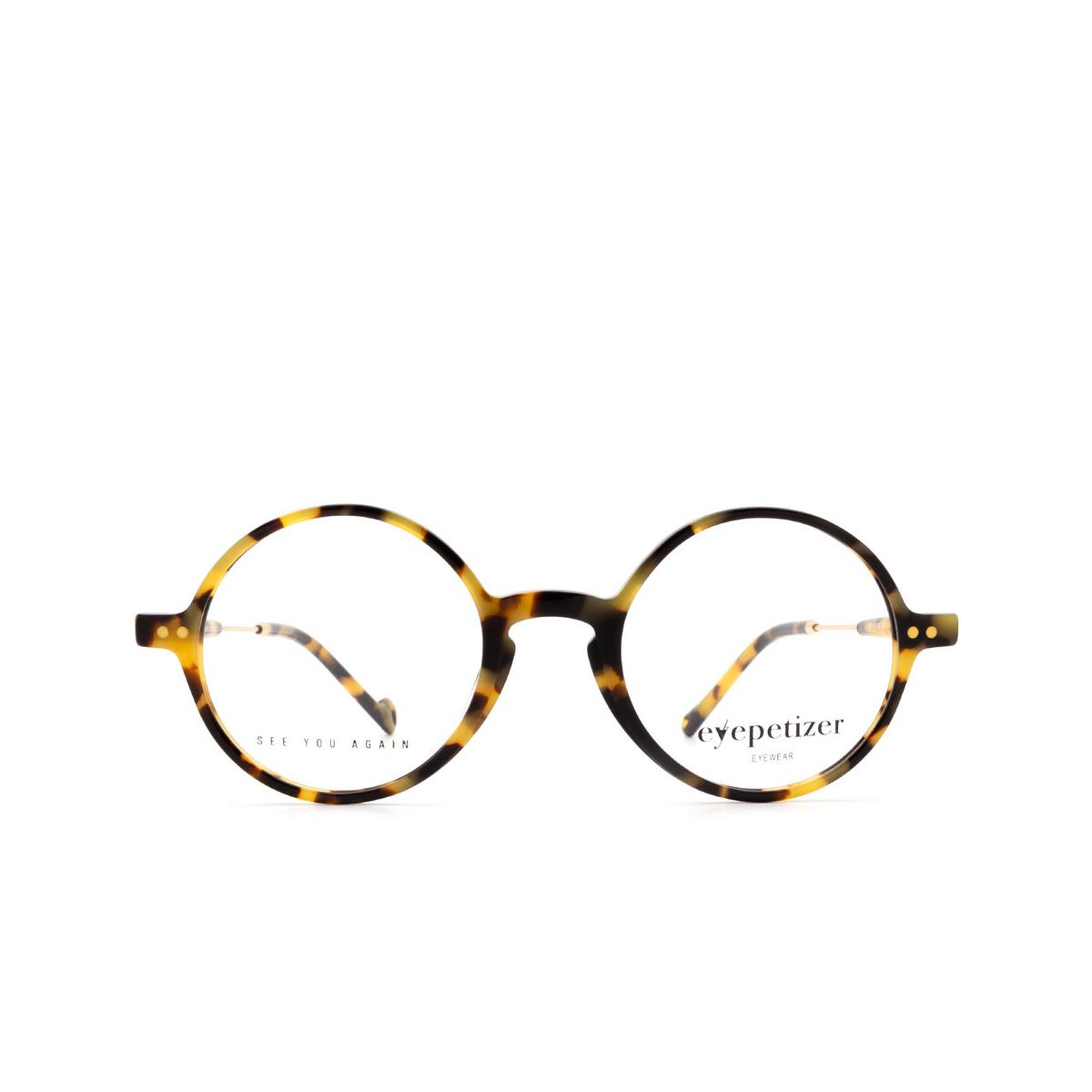 Eyepetizer® Round Eyeglasses: Dix color Havana C.4-F.